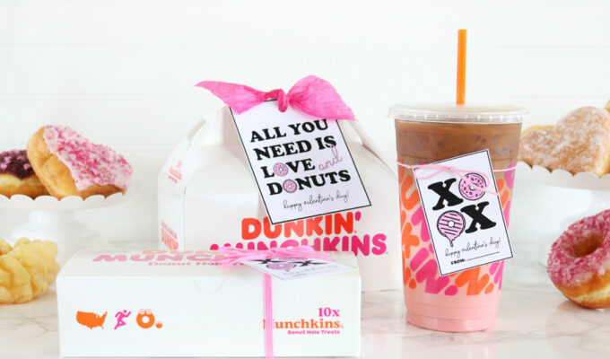 Donut Valentine's Day Gift Idea and Printable Tags