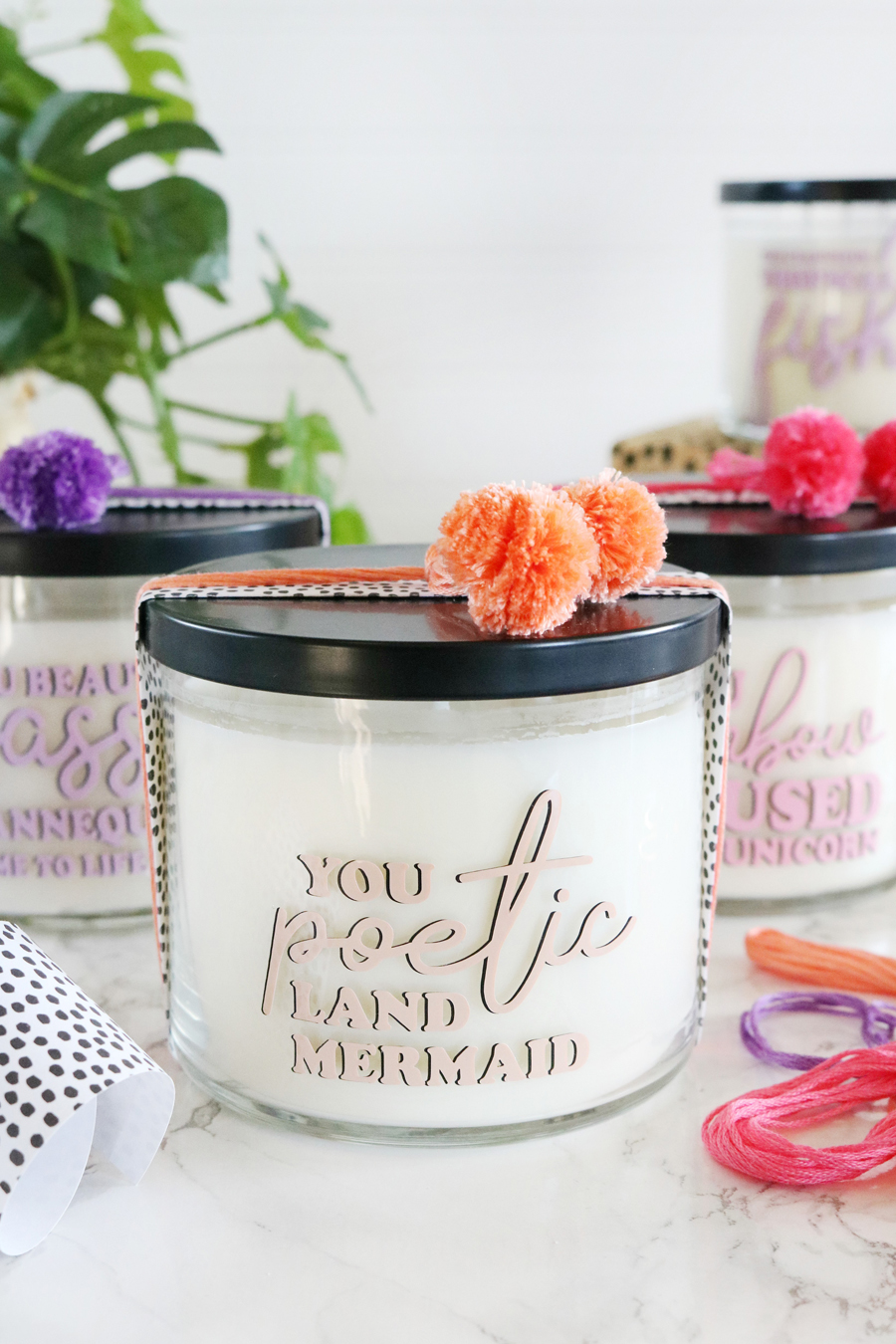 Leslie Knope Inspired Galentine's Day Candle Gift Idea with Cricut