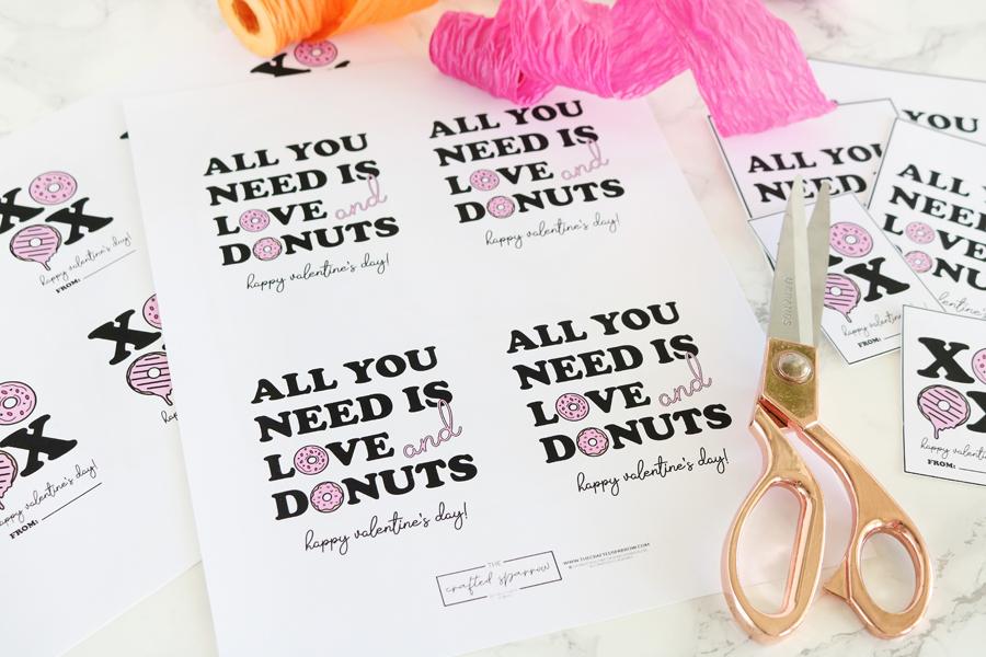 Valentine's Day Donut Printables