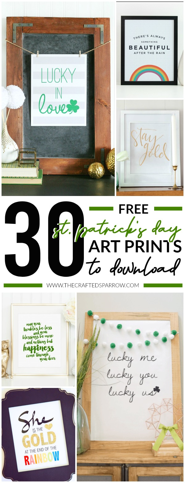 30 Free St. Patrick's Day Art Prints to Download Now