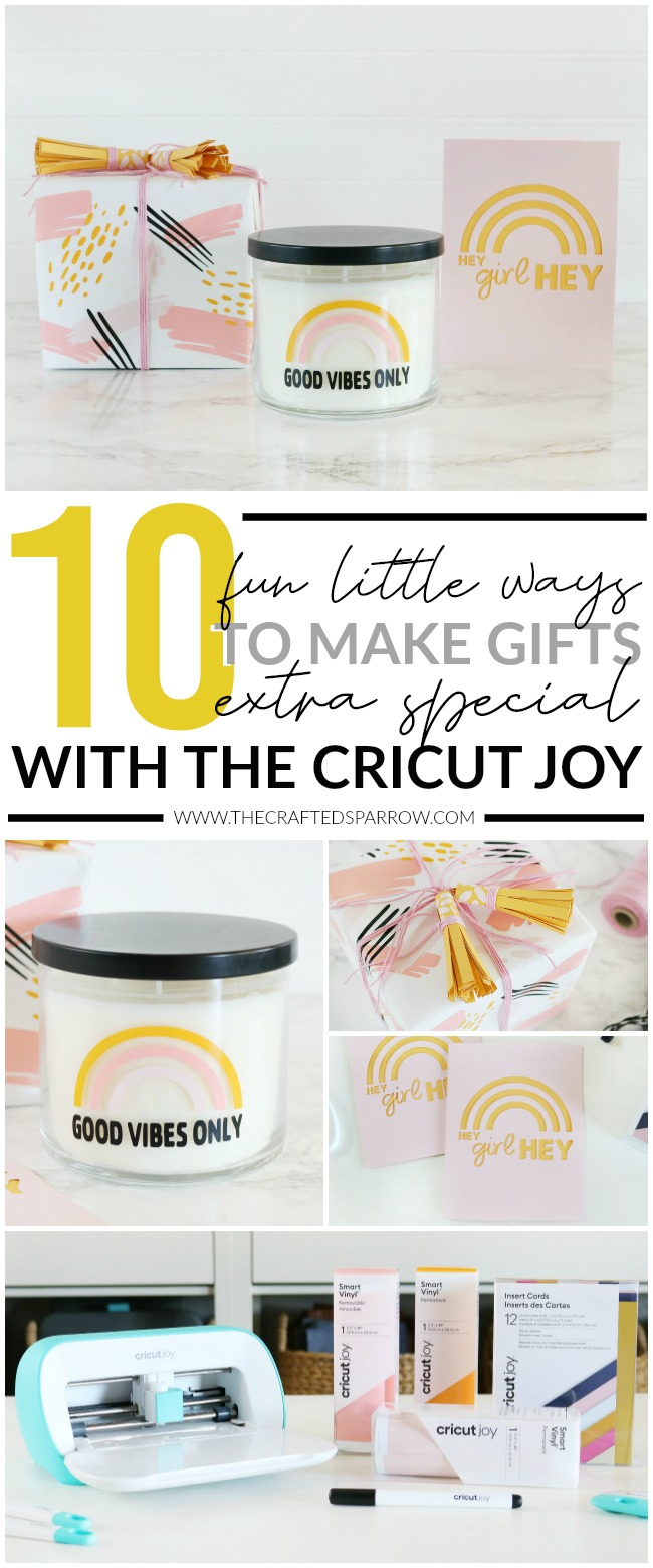10 Fun Little Ways to Make Gifts Extra Special with The Cricut Joy