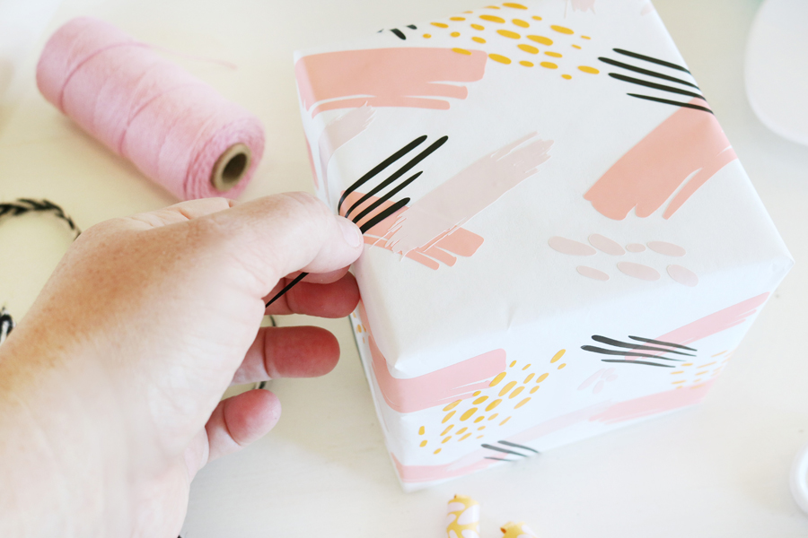 DIY Paint Stroke Wrapping Paper with Cricut Joy