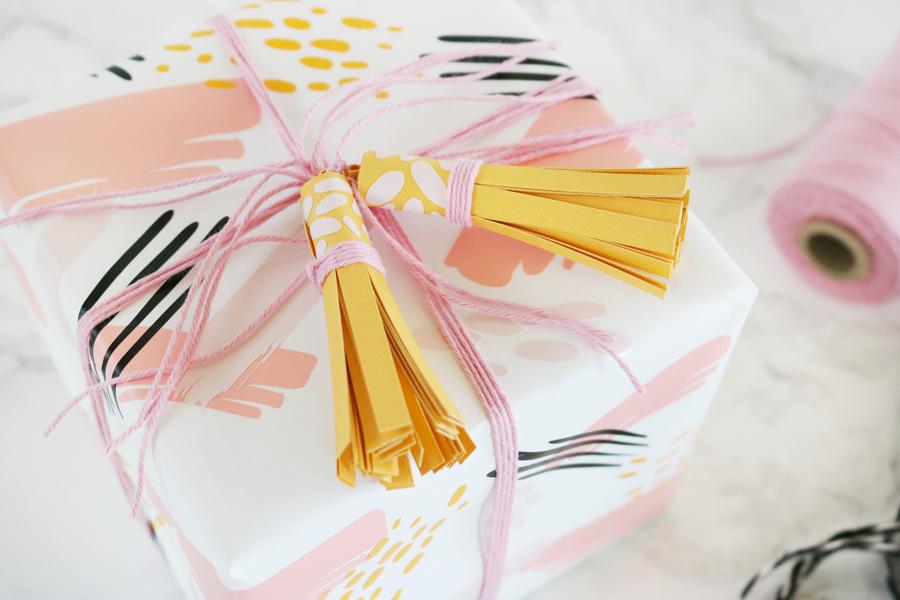 DIY Tassel Gift Topper Made with Cricut Joy