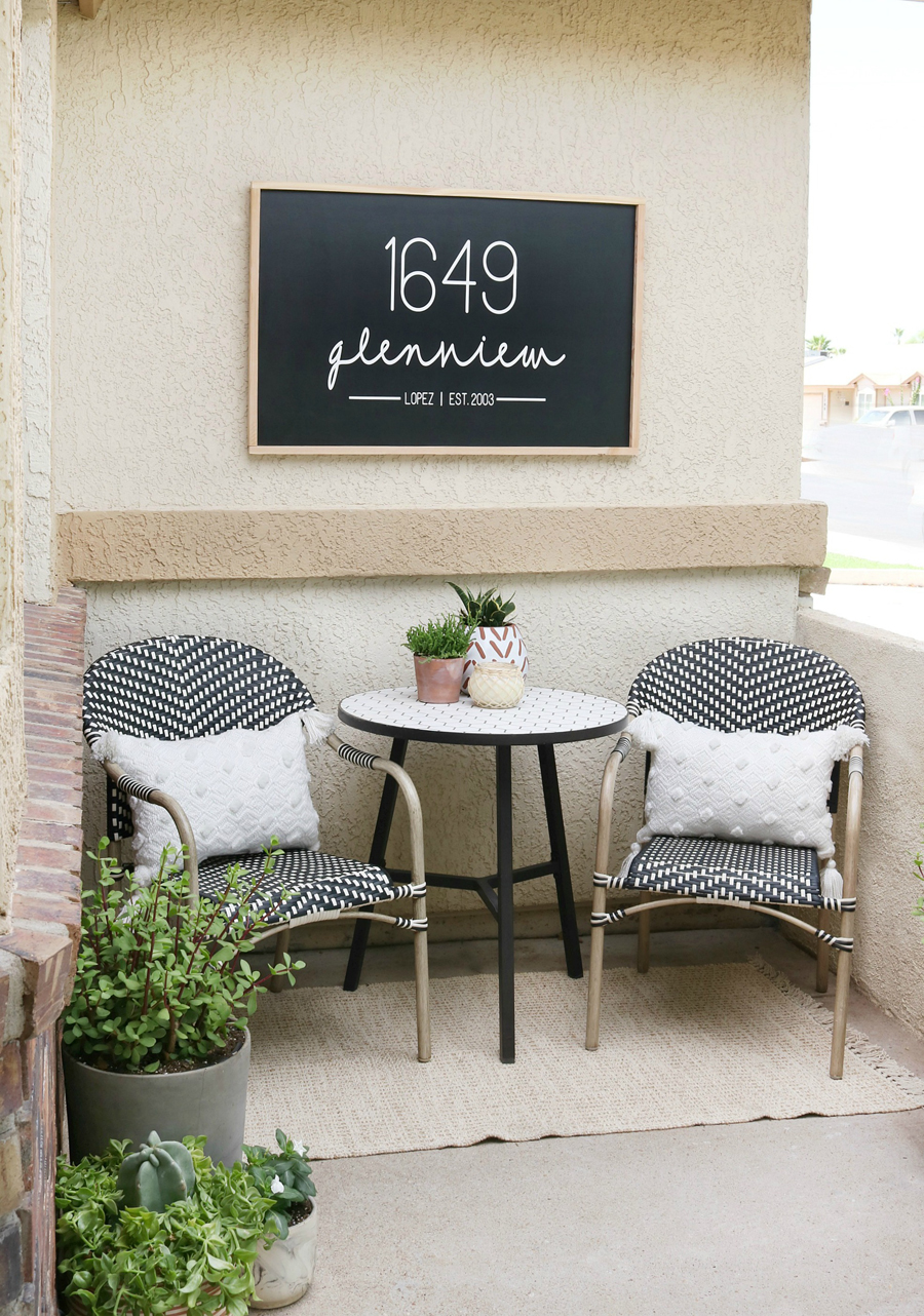 DIY Modern Front Porch Refresh