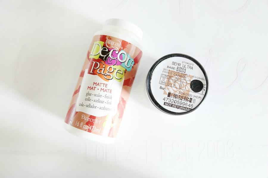 Use Decoupage to Create a Crisp Paint Line When Using a Vinyl Stencil