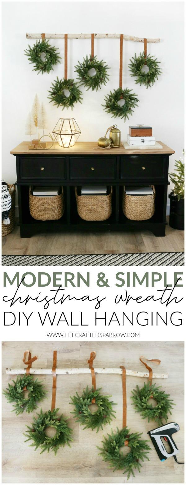 Modern & Simple Christmas Wreath DIY Wall Hanging