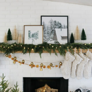 Modern and Cozy Christmas Mantel Decor