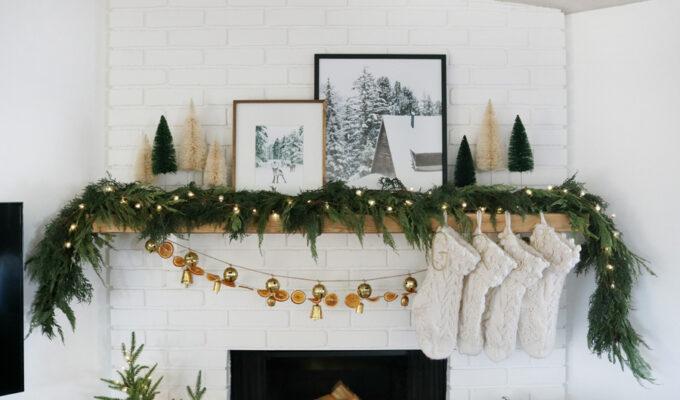 Modern and Cozy Christmas Mantel Decor