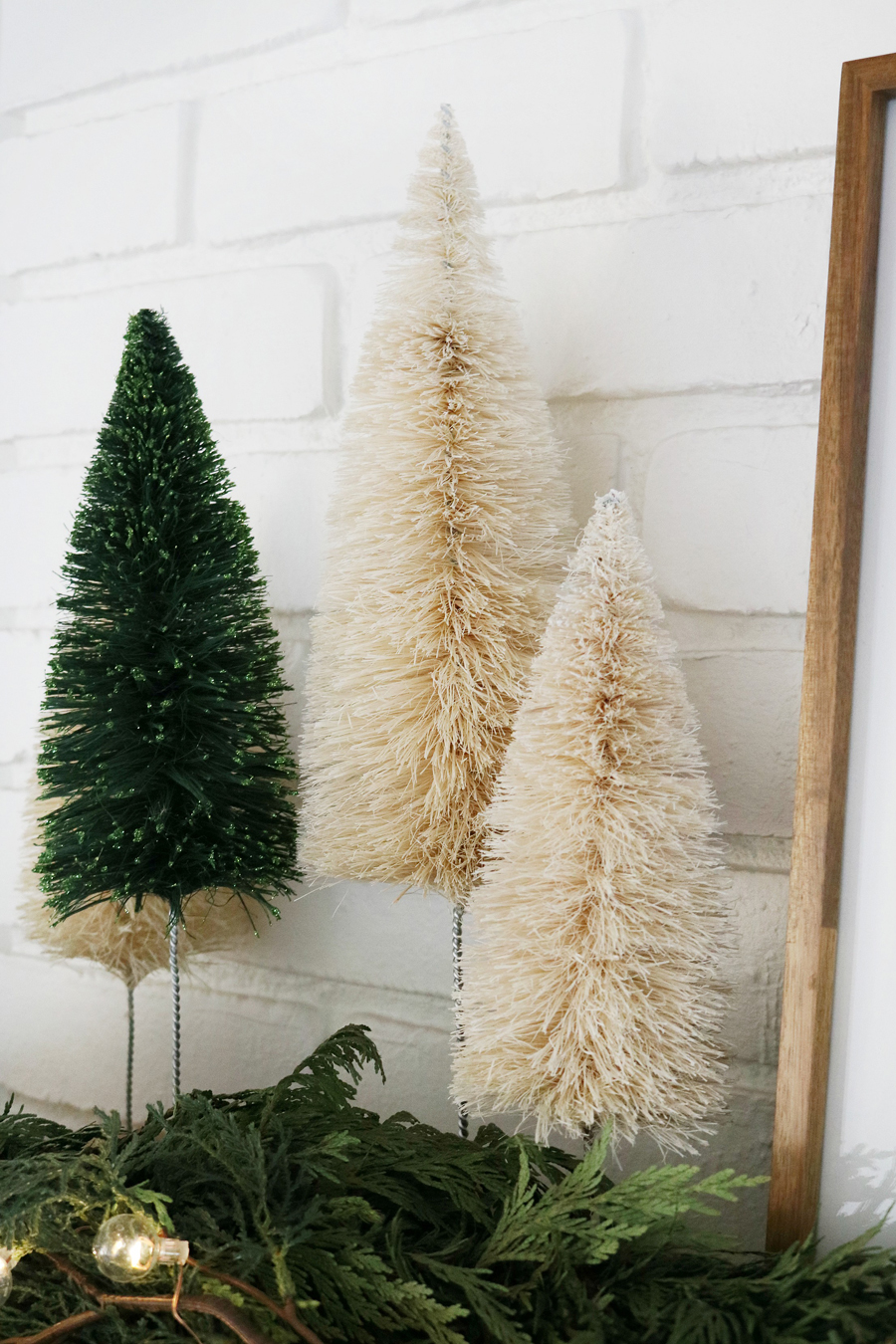 Modern Bottle Brush Trees for a Cozy Holiday Look