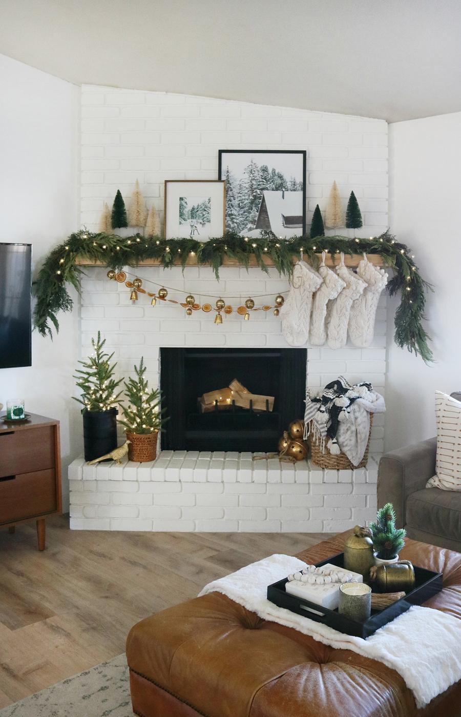 Modern & Cozy Christmas Mantel Decor