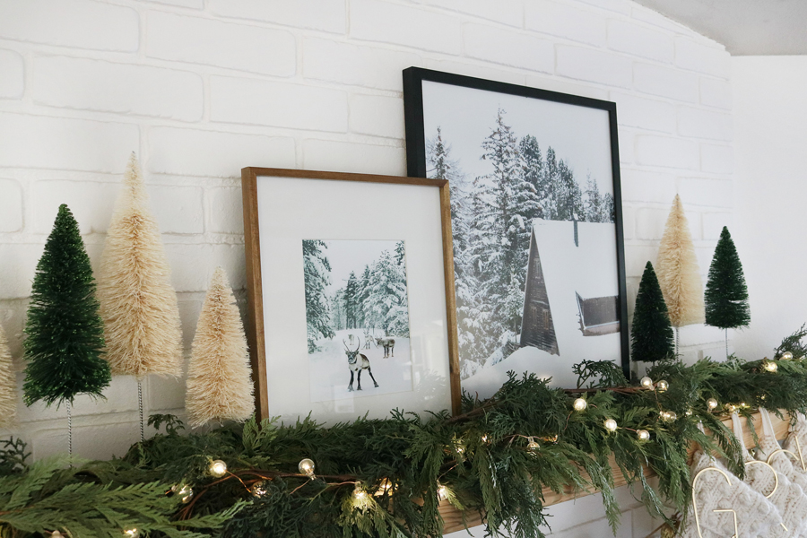 Simple & Modern Holiday Mantel Decor