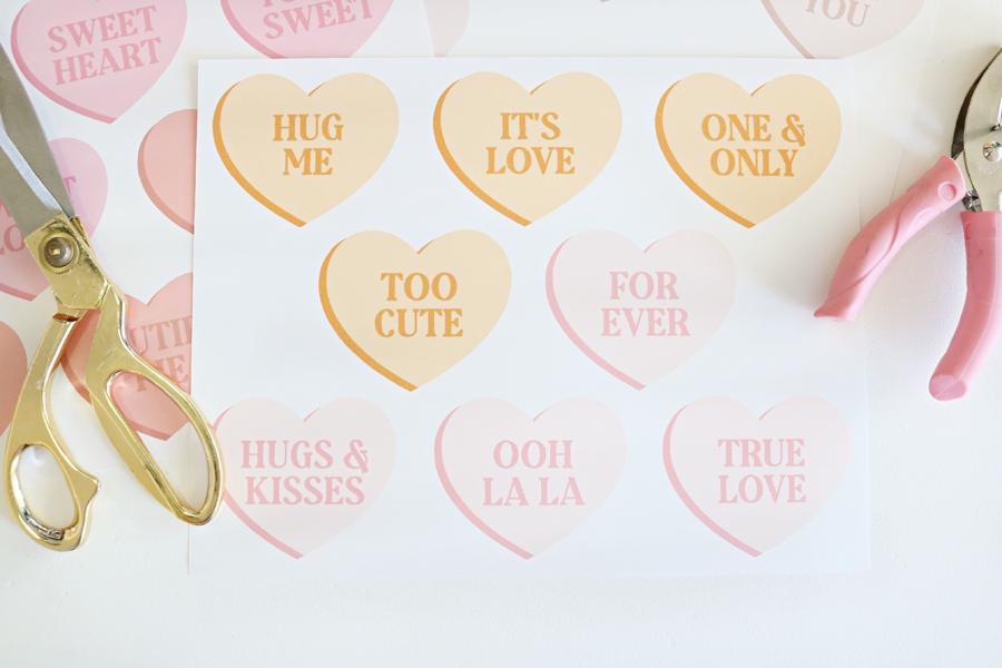 DIY Conversation Heart Printable Banners