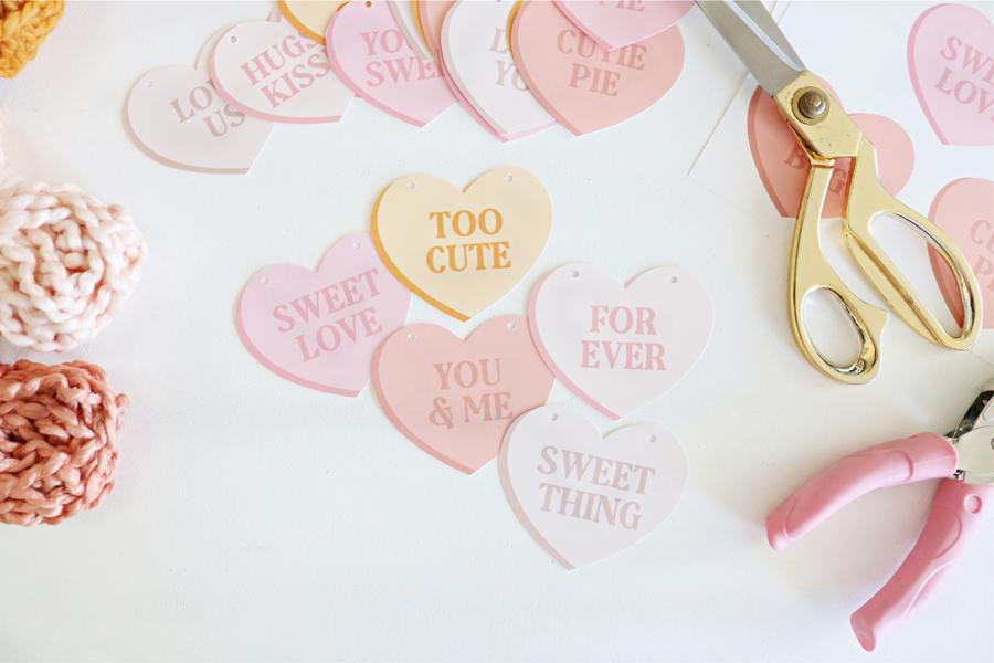 Free Printable Conversation Heart Banner