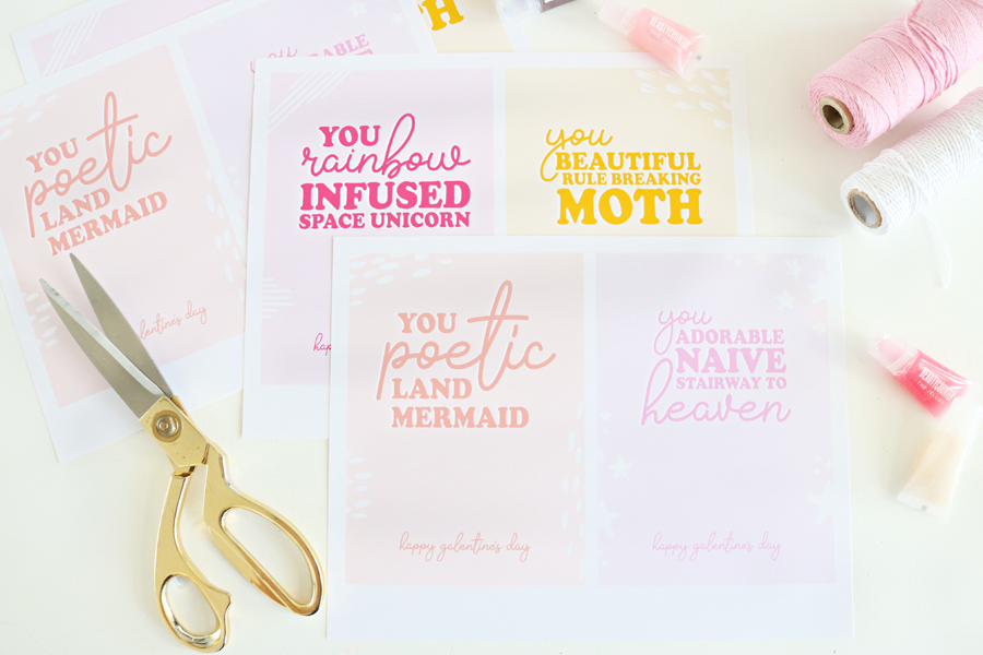 Galentine's Day DIY Gift Idea & Free Printable Cards