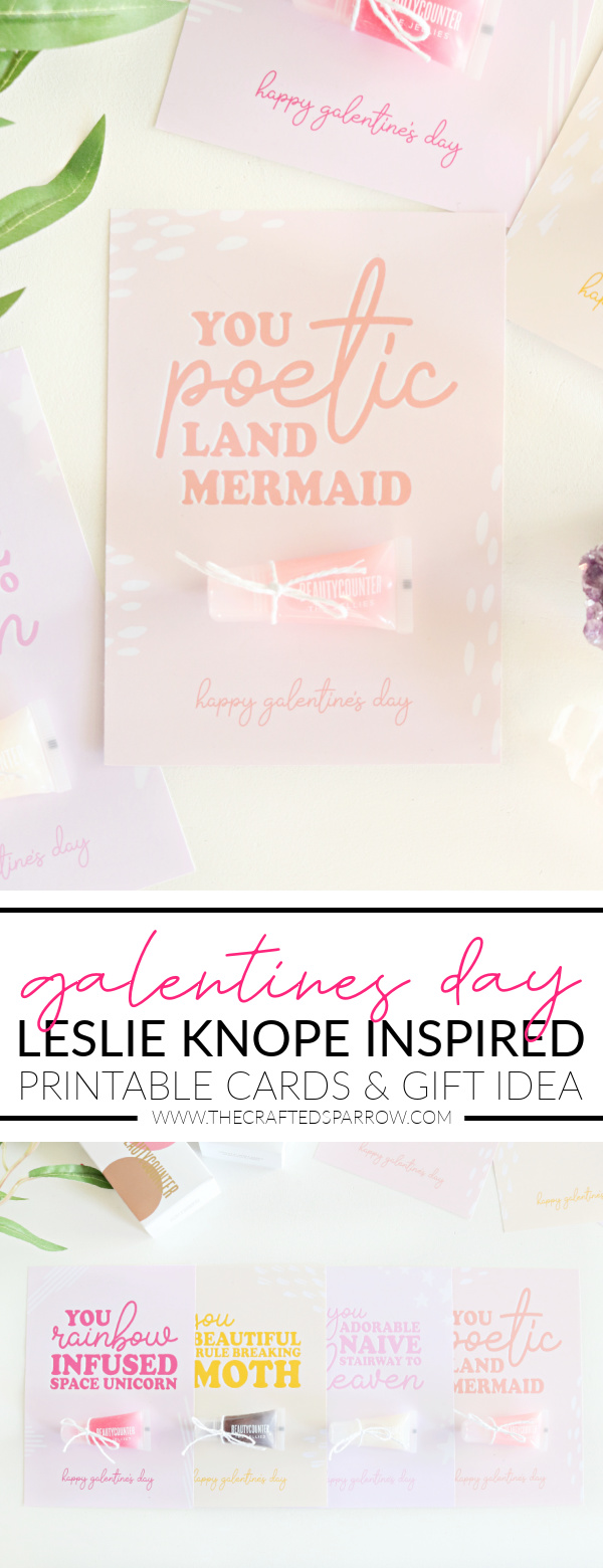 Leslie Knope Inspired Galentine's Day Printable Cards & Gift Idea