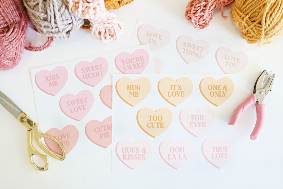 Printable Conversation Heart Banners - Two Styles to Choose From and Print
