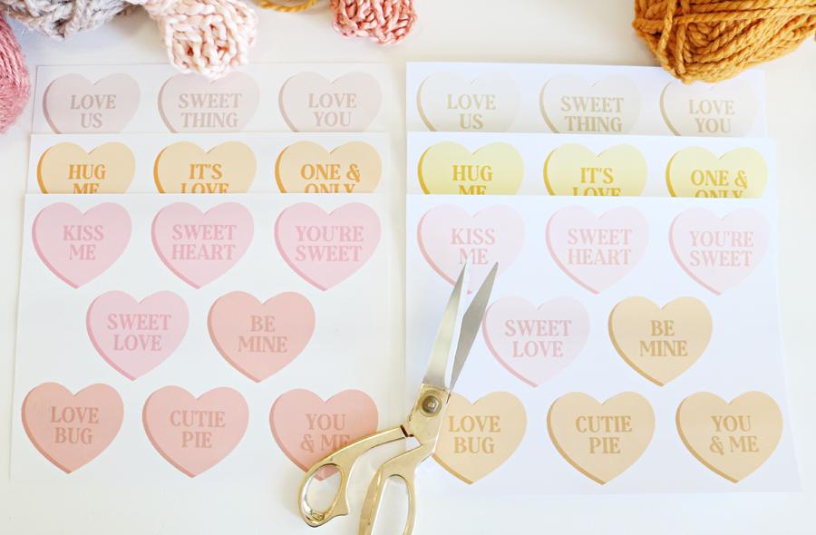 Printable Conversation Heart Banners