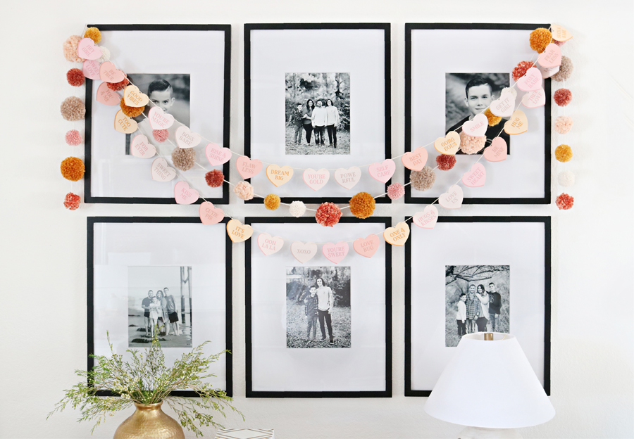 Valentine's Day Free Printable Conversation Heart Banners